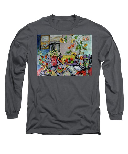 Goldfish Rumble Long Sleeve T-Shirt by Sharon Furner