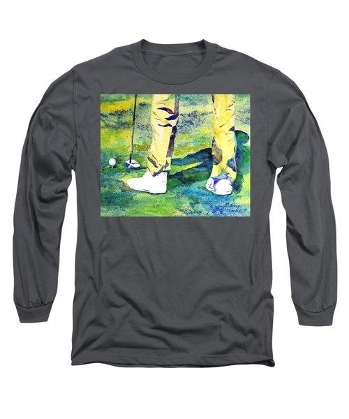 Golf Series - High Hopes Long Sleeve T-Shirt by Betty M M Wong