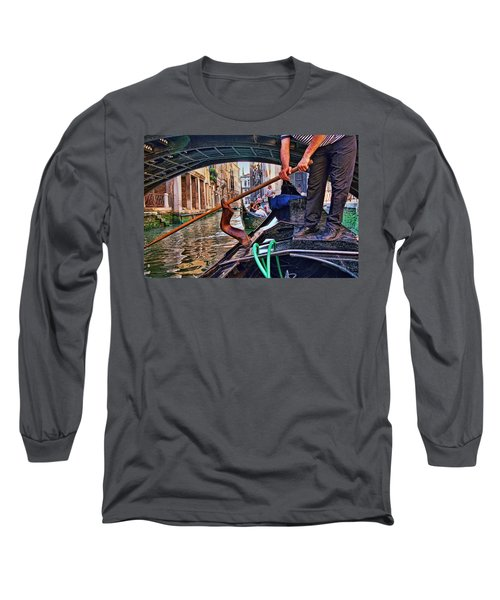 Long Sleeve T-Shirt featuring the photograph Gondola 2 by Allen Beatty