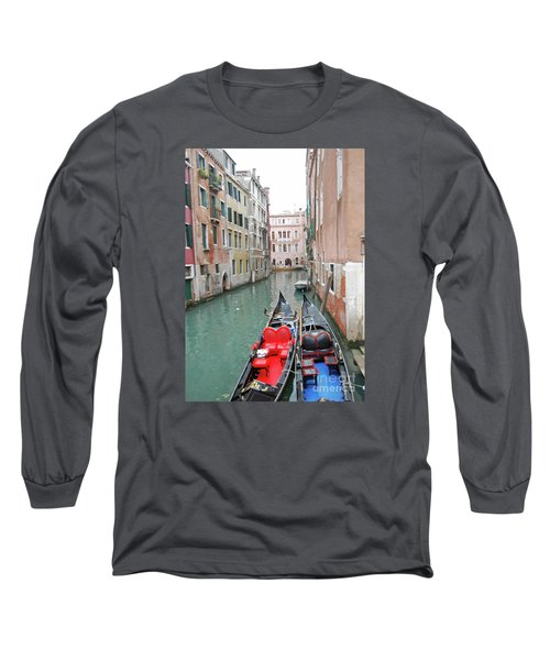 Gondola Love Long Sleeve T-Shirt by Linda Prewer