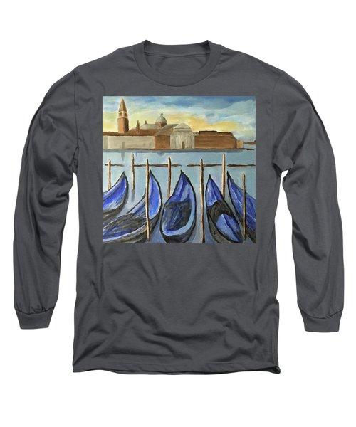 Gondolas Long Sleeve T-Shirt by Victoria Lakes