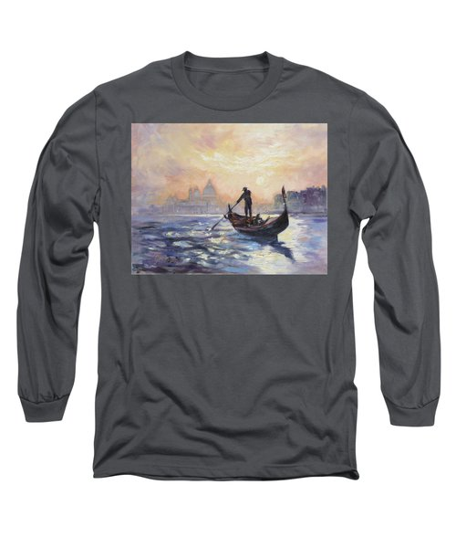 Gondolier Long Sleeve T-Shirt by Irek Szelag
