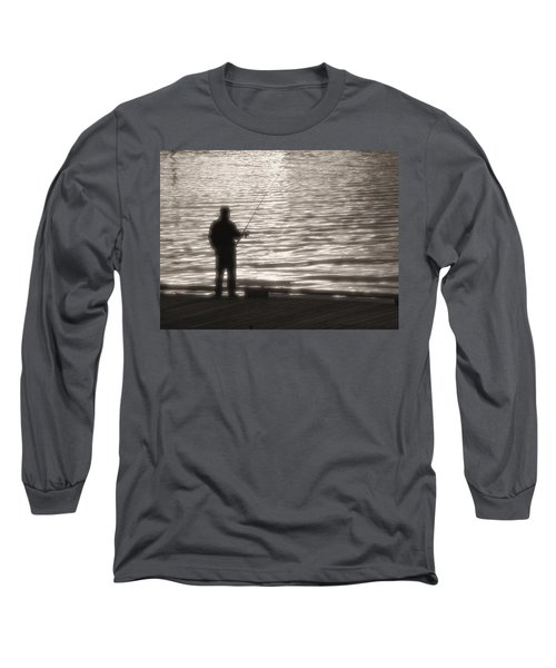 Long Sleeve T-Shirt featuring the photograph Gone Fishing by Mark Alan Perry