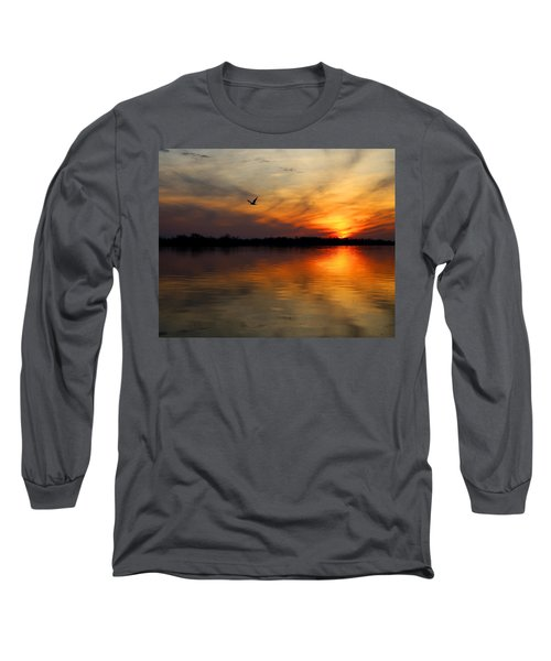 Good Morning Long Sleeve T-Shirt by Judy Vincent