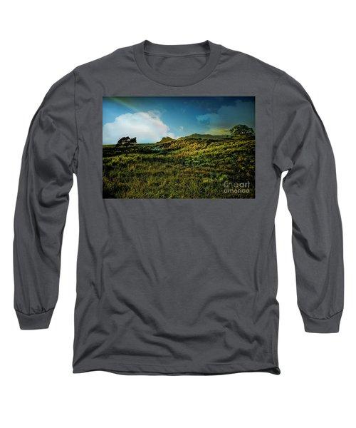 Good Morning Medlands Long Sleeve T-Shirt by Karen Lewis