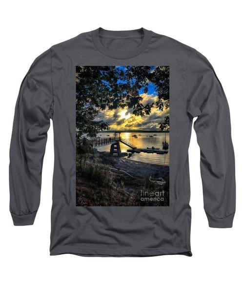 Good Night Madeleine Point Long Sleeve T-Shirt by Elizabeth Dow