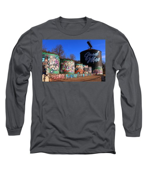 Good Vibes Asheville North Carolina Long Sleeve T-Shirt