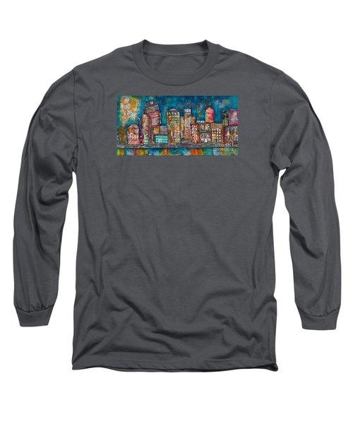 Goodnight Nashville Long Sleeve T-Shirt by Kirsten Reed