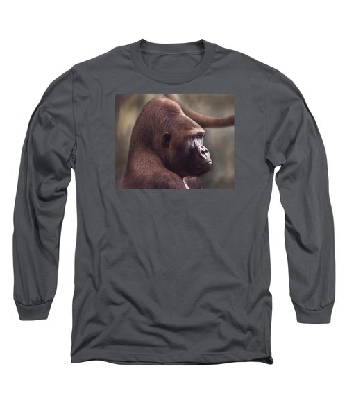 Gorilla Portrait Long Sleeve T-Shirt