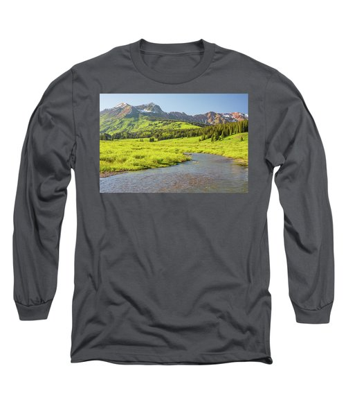 Long Sleeve T-Shirt featuring the photograph Gothic Valley - Early Evening by Eric Glaser