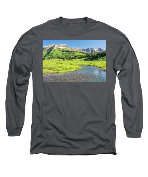 Long Sleeve T-Shirt featuring the photograph Gothic Valley - Morning by Eric Glaser