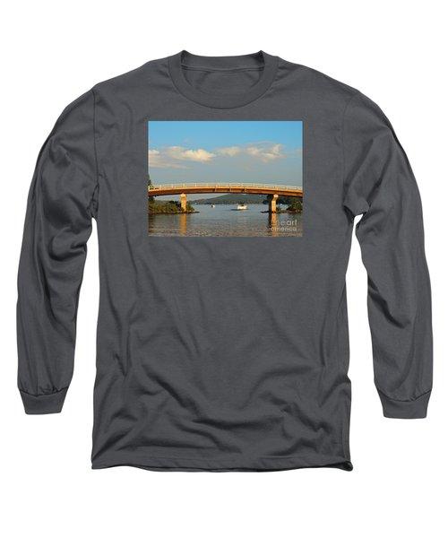 Governor's Island Bridge Long Sleeve T-Shirt by Mim White