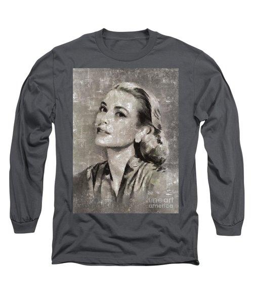 Grace Kelly By Mary Bassett Long Sleeve T-Shirt