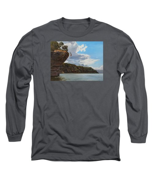 Graceful Cliff Dive Long Sleeve T-Shirt