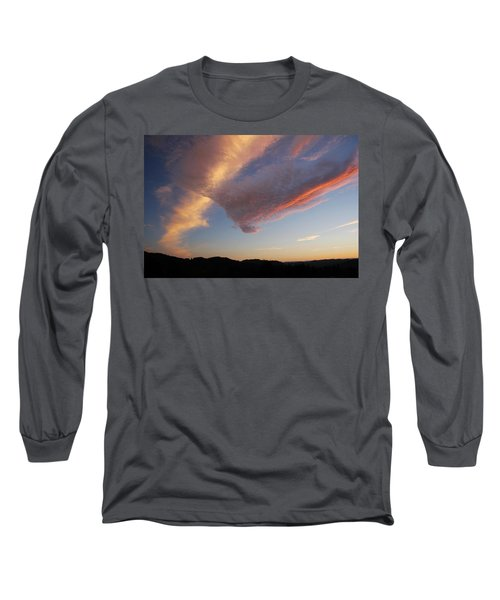 Graceful Pink Clouds Long Sleeve T-Shirt by Katie Wing Vigil