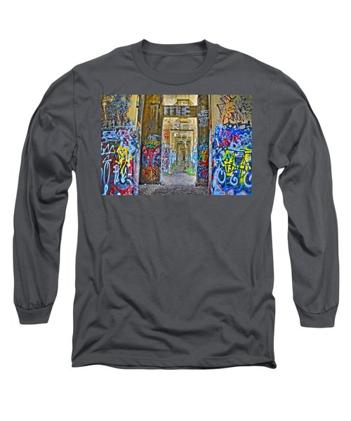 Grafiti Bridge To Nowhere Long Sleeve T-Shirt