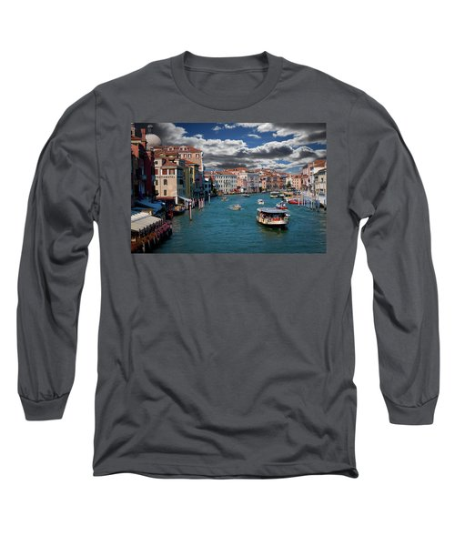 Long Sleeve T-Shirt featuring the photograph Grand Canal Daylight by Harry Spitz
