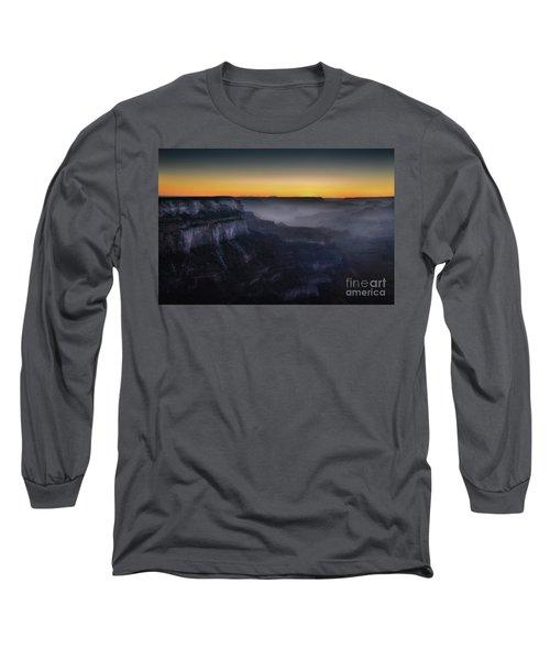 Grand Canyon At Twilight Long Sleeve T-Shirt by RicardMN Photography
