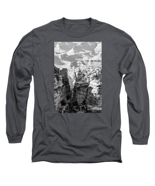 Long Sleeve T-Shirt featuring the photograph Grand Canyon Bw Impression by Juergen Klust