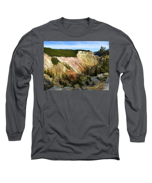 Grand Canyon Of The Yellowstone Long Sleeve T-Shirt