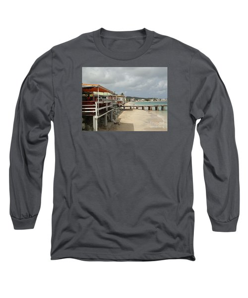 Grand Case Pier Long Sleeve T-Shirt by Margaret Brooks