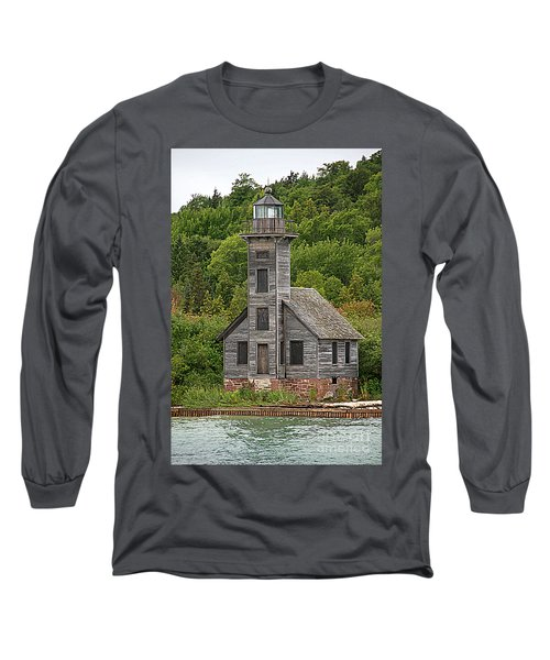 Long Sleeve T-Shirt featuring the photograph Grand Island East Channel Lighthouse #6664 by Mark J Seefeldt