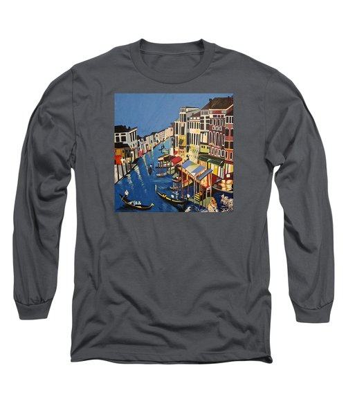 Long Sleeve T-Shirt featuring the painting Grande Canal by Donna Blossom