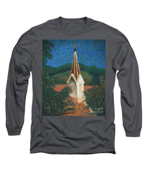 Grandmas Church Long Sleeve T-Shirt by Jacqueline Athmann