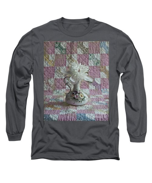 Grandmother's Vase And Her Son's Quilt Long Sleeve T-Shirt
