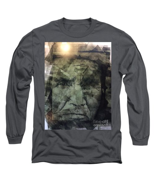 Granite Faces Of Men And Mountains Long Sleeve T-Shirt