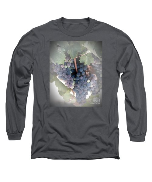 Grapes On The Vine I Long Sleeve T-Shirt by Sherry Hallemeier