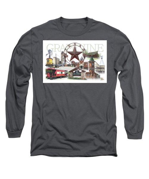 Grapevine Texas Long Sleeve T-Shirt by Doug Kreuger