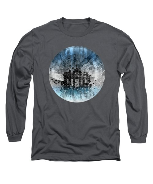 Graphic Art Berlin Brandenburg Gate Long Sleeve T-Shirt by Melanie Viola