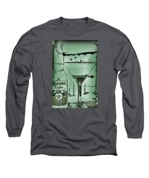 Long Sleeve T-Shirt featuring the photograph Graphic Refreshments by Pamela Blizzard