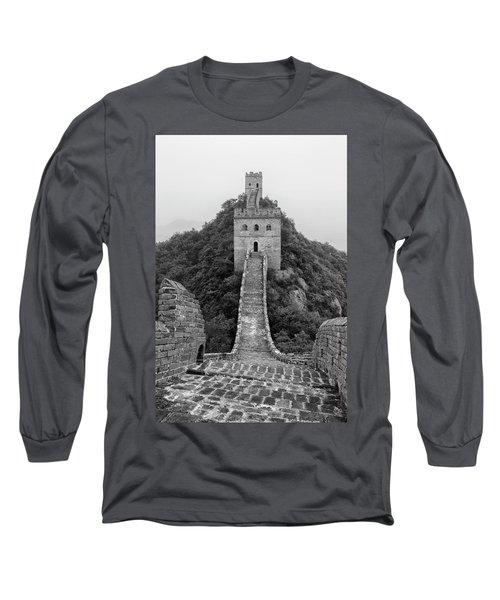 Long Sleeve T-Shirt featuring the photograph Great Wall 1, Jinshanling, 2016 by Hitendra SINKAR