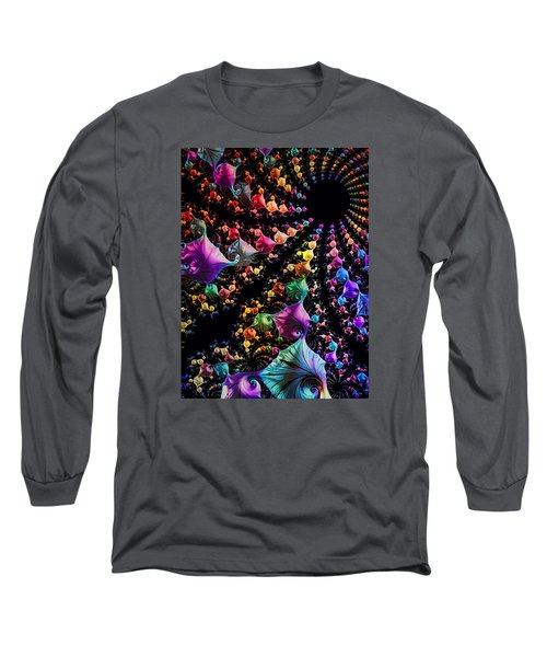 Long Sleeve T-Shirt featuring the digital art Gravitational Pull by Kathy Kelly