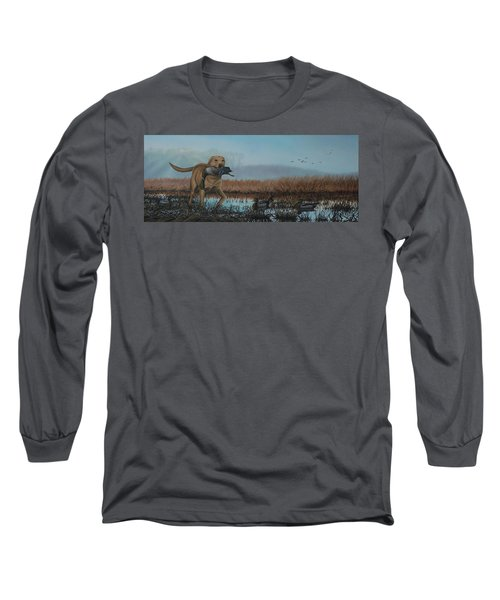 Gray Day Mallards Long Sleeve T-Shirt