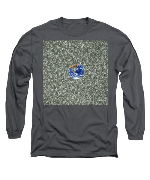 Gray Space Long Sleeve T-Shirt