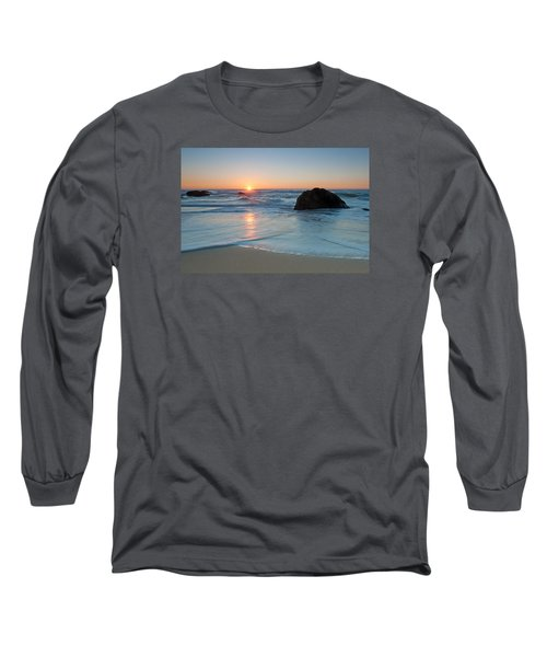 Gray Whale Cove State Beach 2 Long Sleeve T-Shirt by Catherine Lau