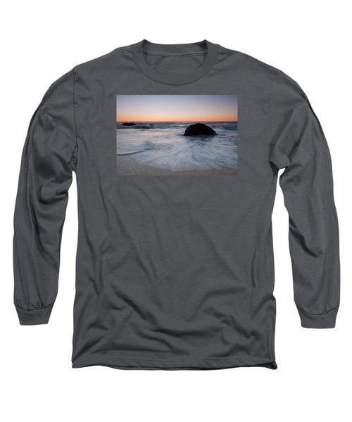 Gray Whale Cove State Beach Long Sleeve T-Shirt by Catherine Lau