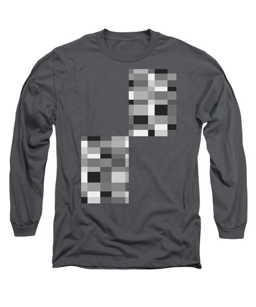 Long Sleeve T-Shirt featuring the digital art Grayscale Check by Bruce Stanfield