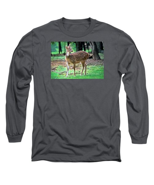 Long Sleeve T-Shirt featuring the photograph Grazing by Marion Johnson