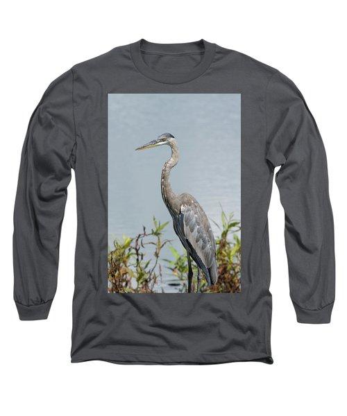 Great Blue Heron #2 Long Sleeve T-Shirt