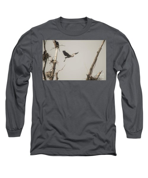 Long Sleeve T-Shirt featuring the photograph Great Blue Heron - 6 by David Bearden