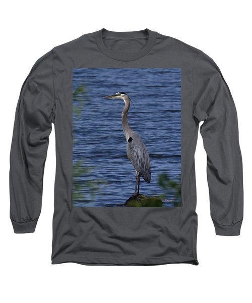 Great Blue Heron Dmsb0001 Long Sleeve T-Shirt