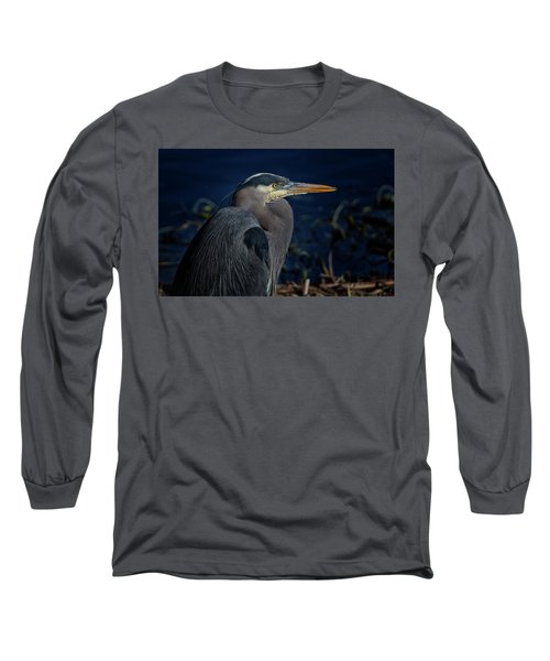 Long Sleeve T-Shirt featuring the photograph Great Blue Heron by Randy Hall
