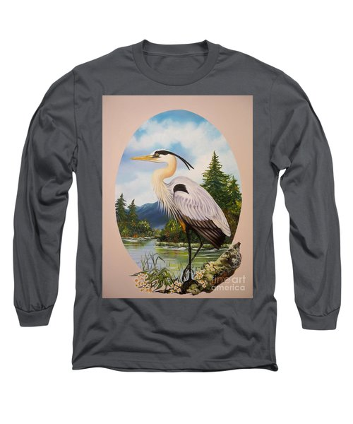 Flying Lamb Productions                 Great Blue Heron Long Sleeve T-Shirt