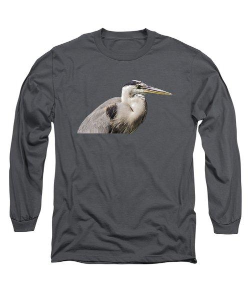Great Blue Heron Transparency Long Sleeve T-Shirt