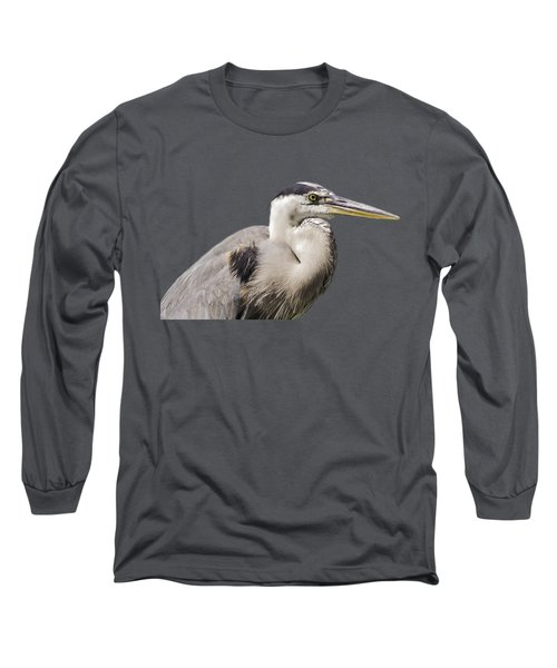 Great Blue Heron Transparency Long Sleeve T-Shirt