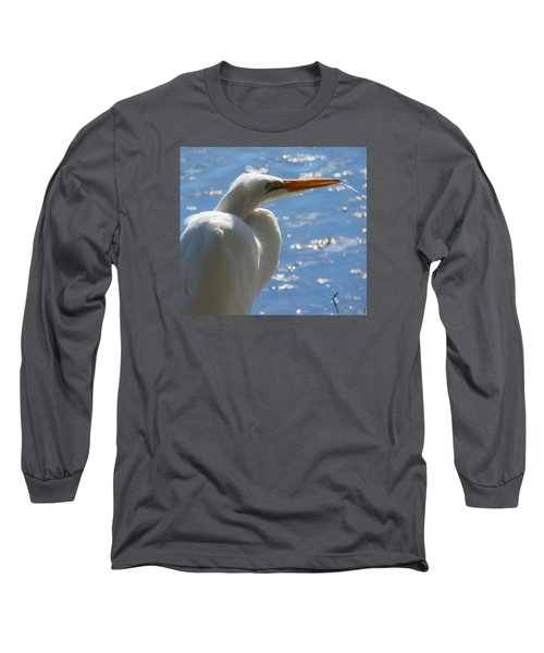 Long Sleeve T-Shirt featuring the photograph Great Egret Profile by Phyllis Beiser